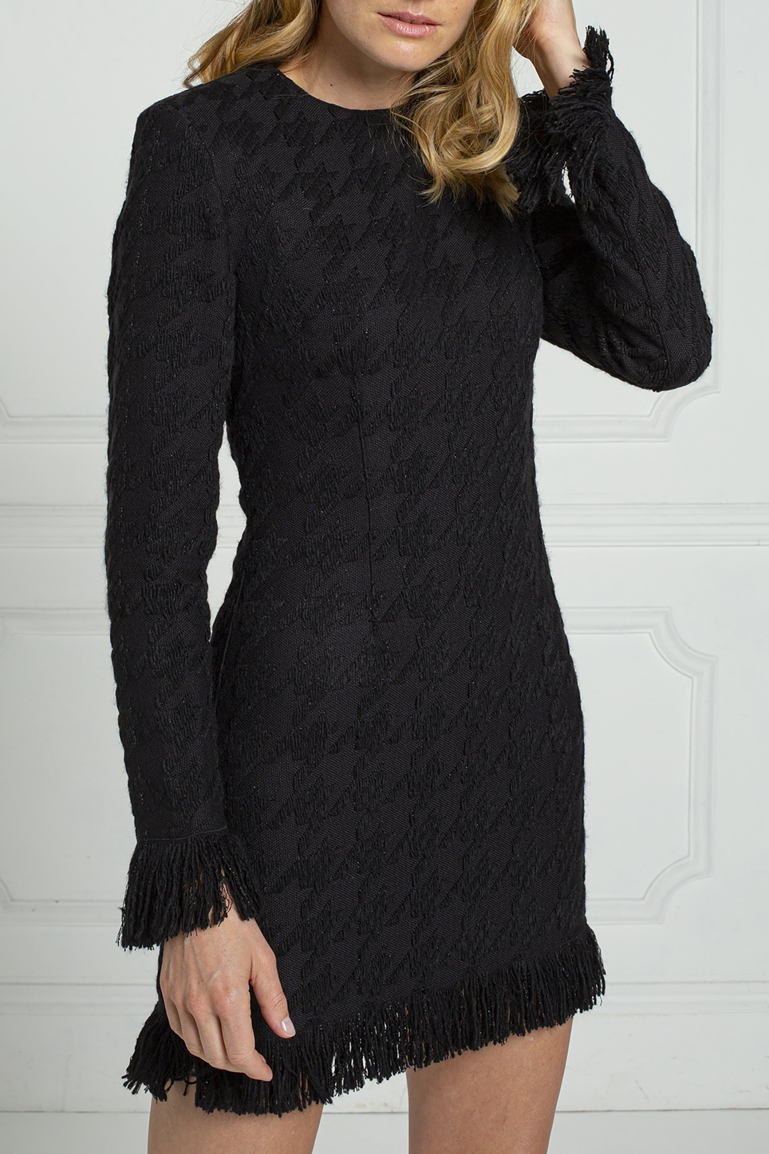 thom-laurence-houndstooth-dress-black-frayed-hem-french-jacquard-8