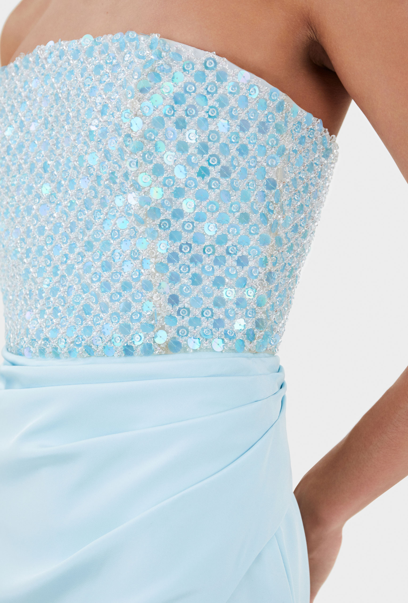 Thom Laurence Dress, Crystal and Pearl embellishment, French Tulle, Made in London